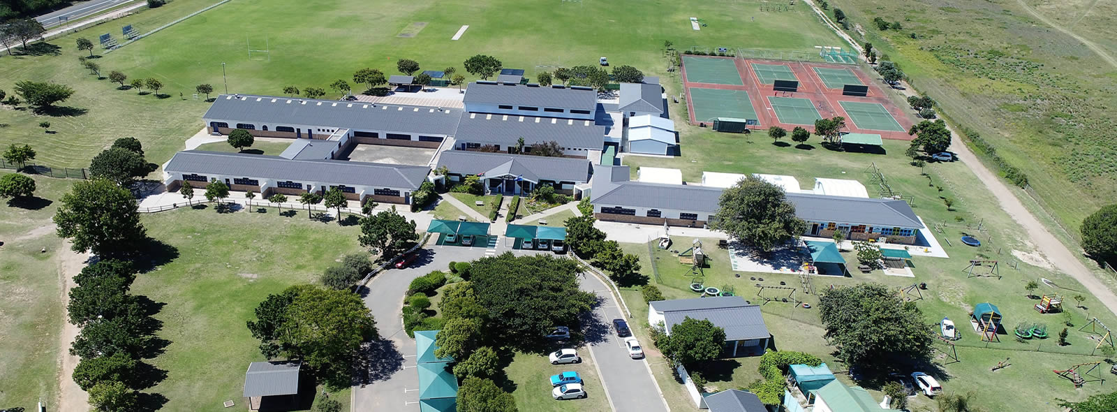 Plettenberg Bay Primary School from the air